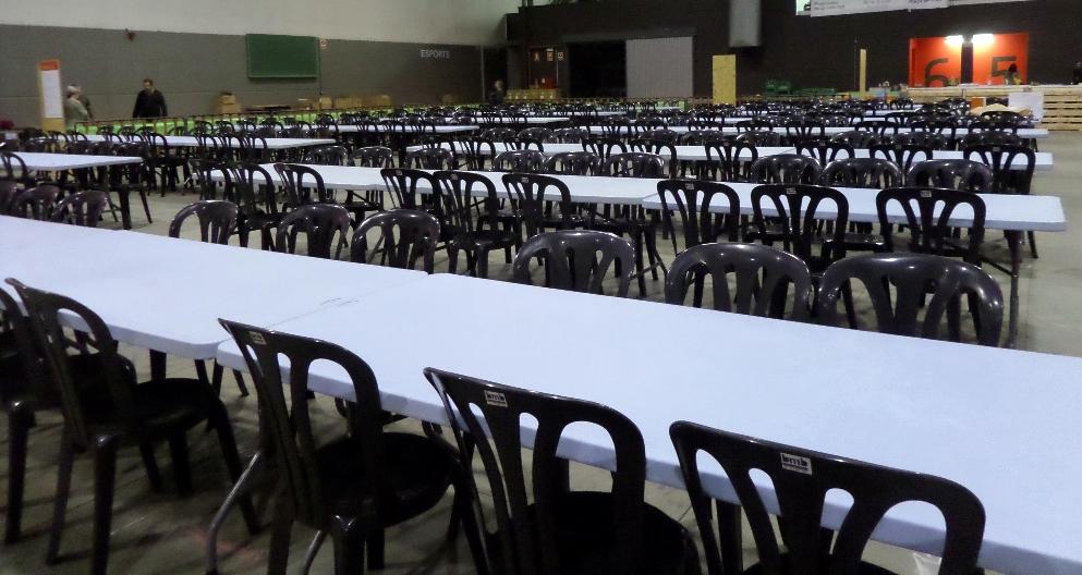 mesas rectas