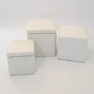 puffs blancs