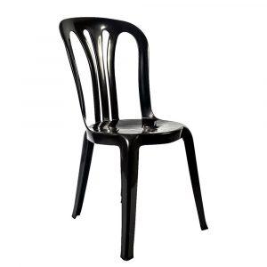 silla de resina negra