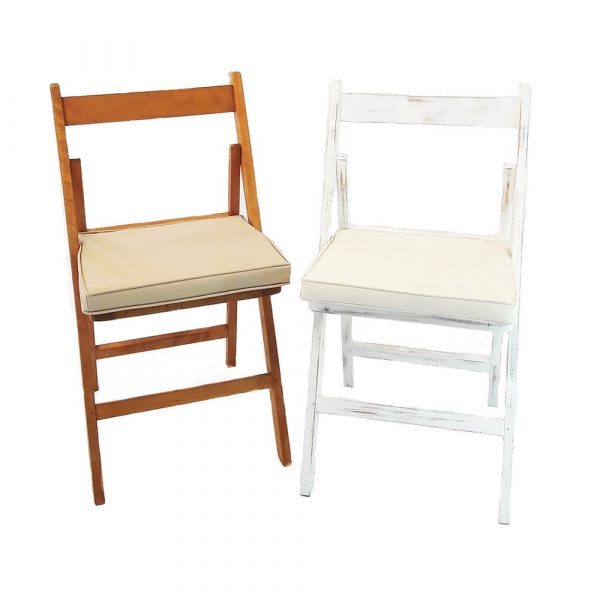 sillas de madera con cojín