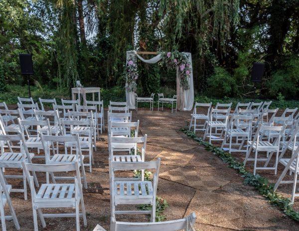 ceremonia y banquetas