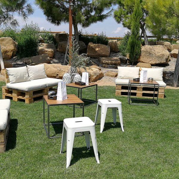 chill out con sofás de palets