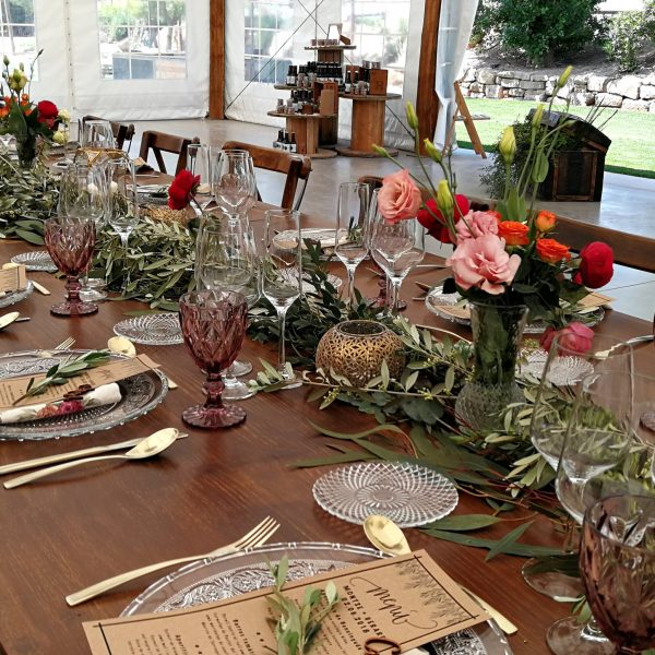 mesas decoración central