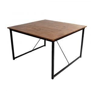mesa de madera de 1,20 x 1,20