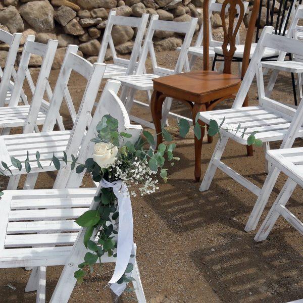 flores sillas