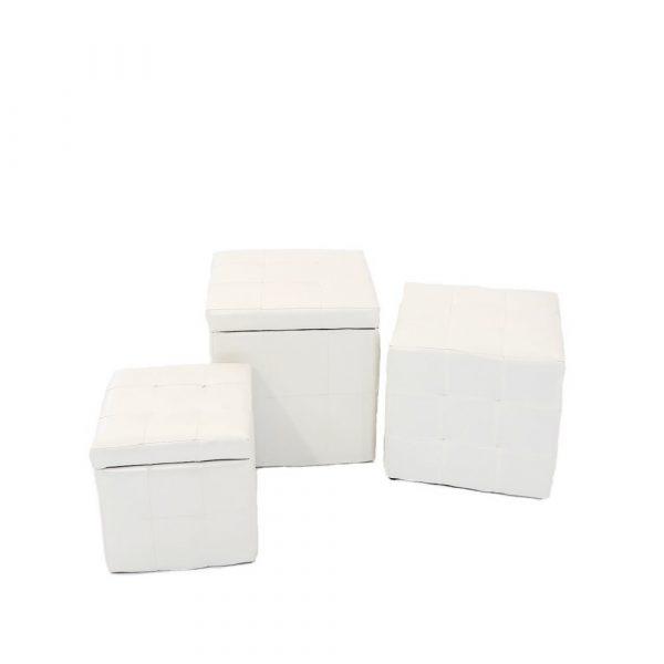 puffs blancos