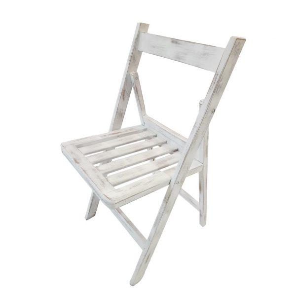 silla blanca vintage