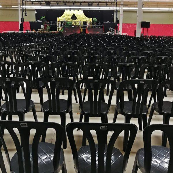 silla negra