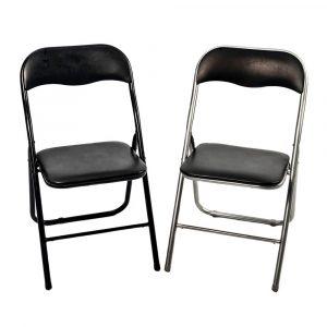 sillas plegables negras