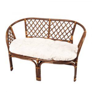 sofà de mimbre