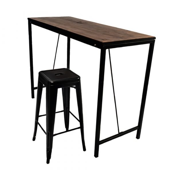 mesa de cóctel recta